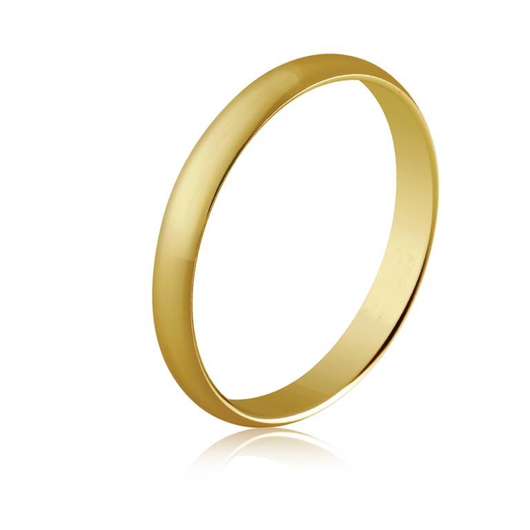 Alianza oro amarillo diseño clásico estrecho fino