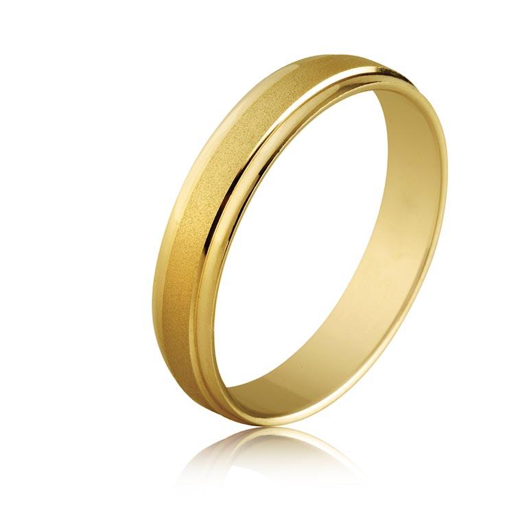 749a42a037f2 Alianza boda oro amarillo 18K brillo y mate (4mm)