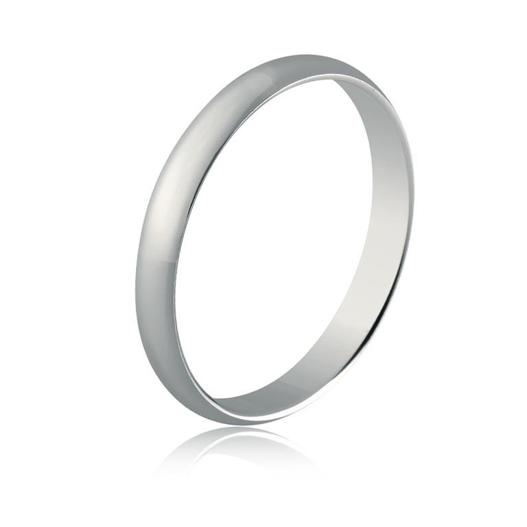 49bc1053499a Alianza boda oro blanco 9K brillo (3mm)