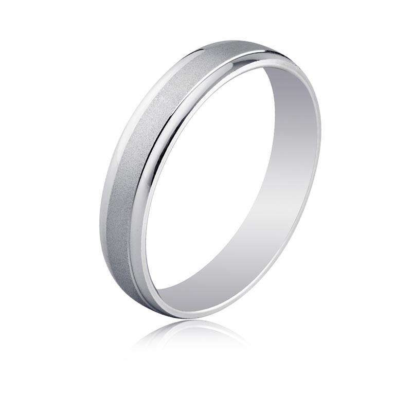 94aa2c7d30c9 Alianza anillo oro blanco diseño brillo en laterales y parte central en  mate satinado