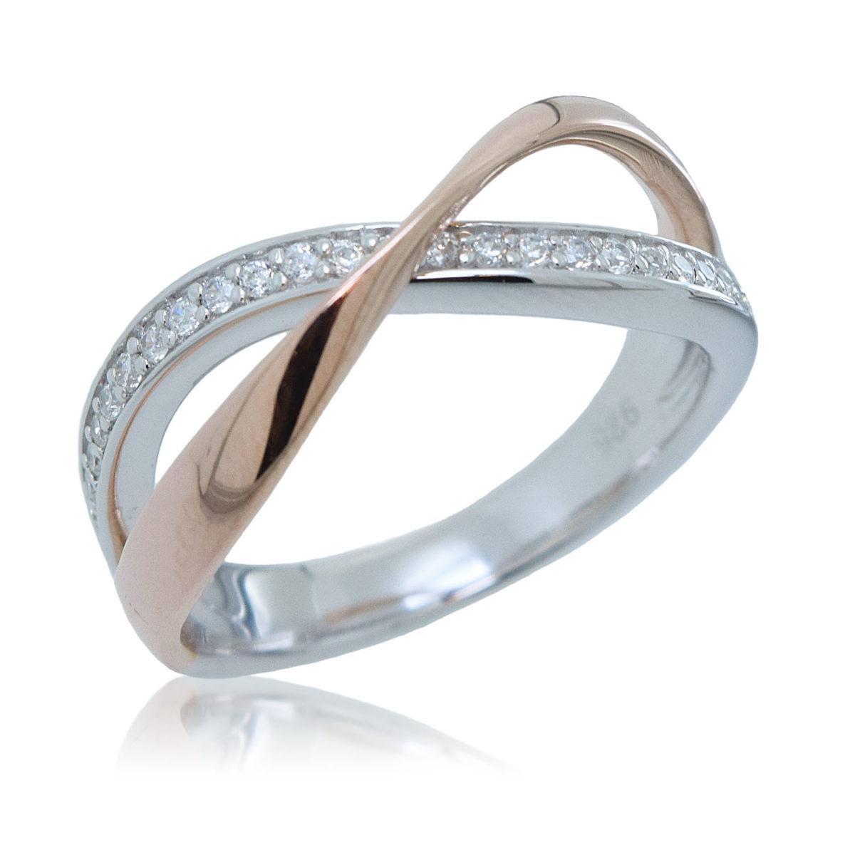 0bcf09189312 anillo plata bicolor cruzado jolfer