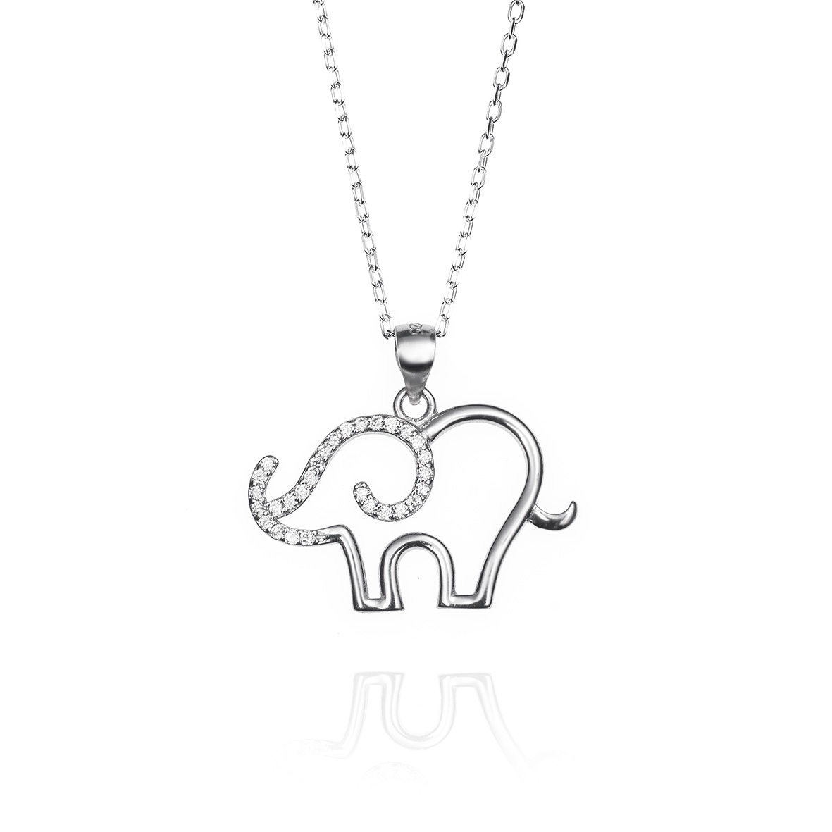 Colgante elefante plata de ley y circonitas 0541514