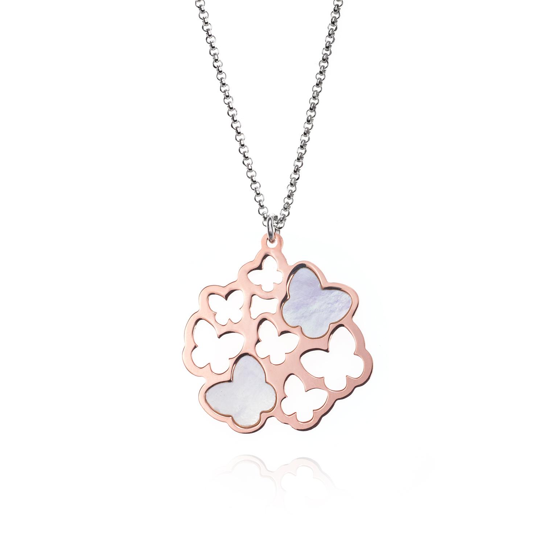 085d905aeb49 Colgante mariposas plata de ley rosa nacar jolfer joyeros 0548713