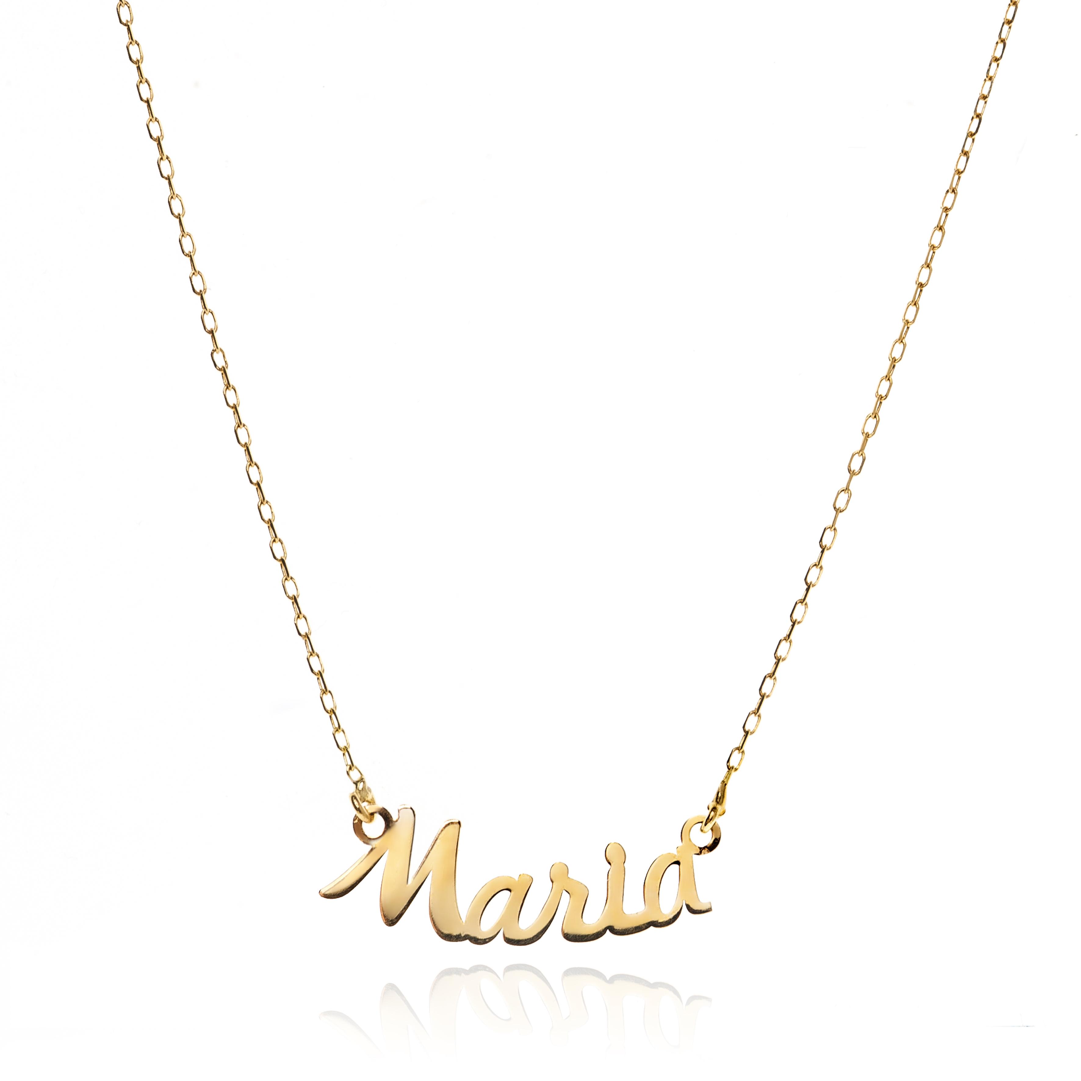 Colgante nombre personalizable en oro de 18 quilates jolfer joyeros 0544129