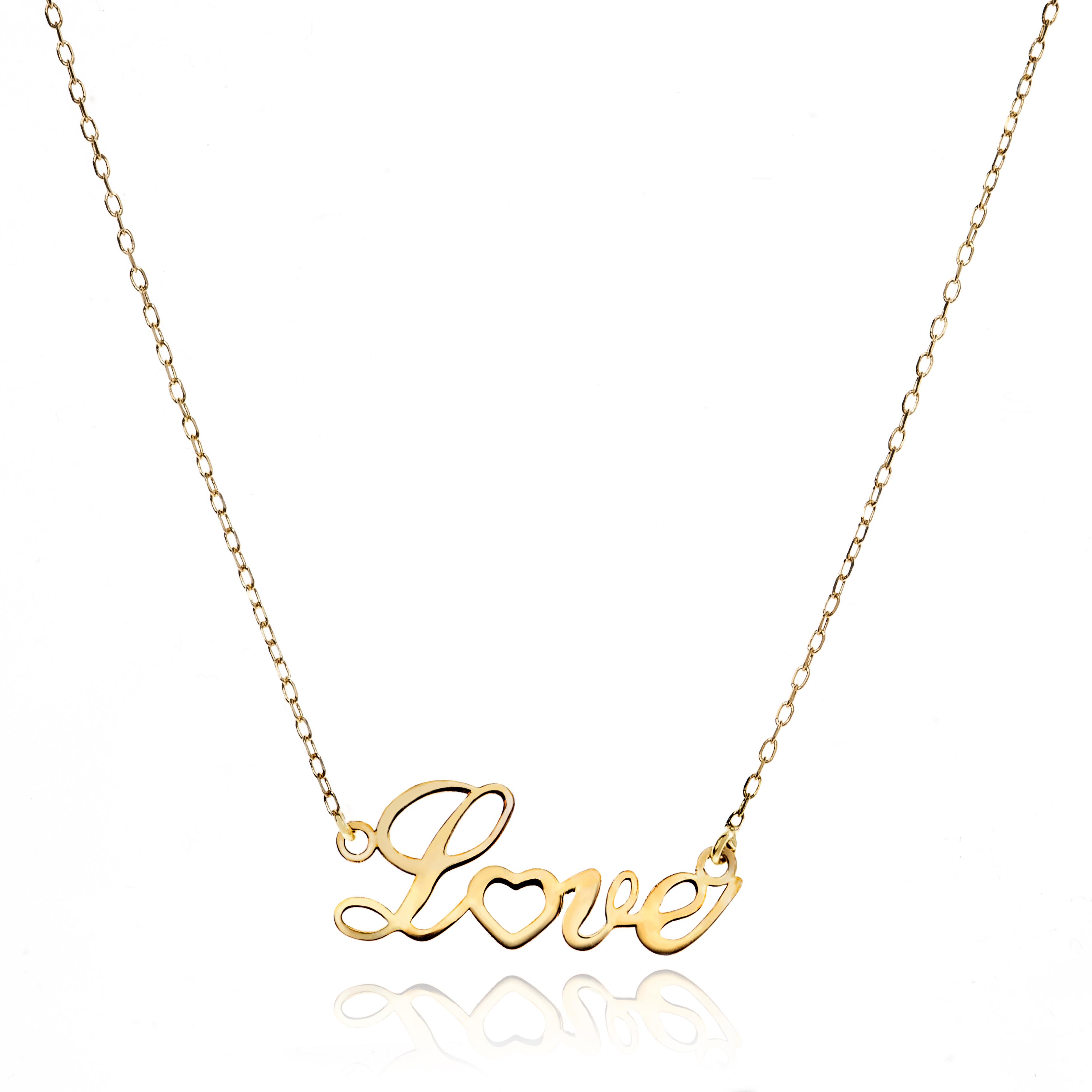 Colgante LOVE oro amarillo 18 quilates jolfer joyeros 0544726