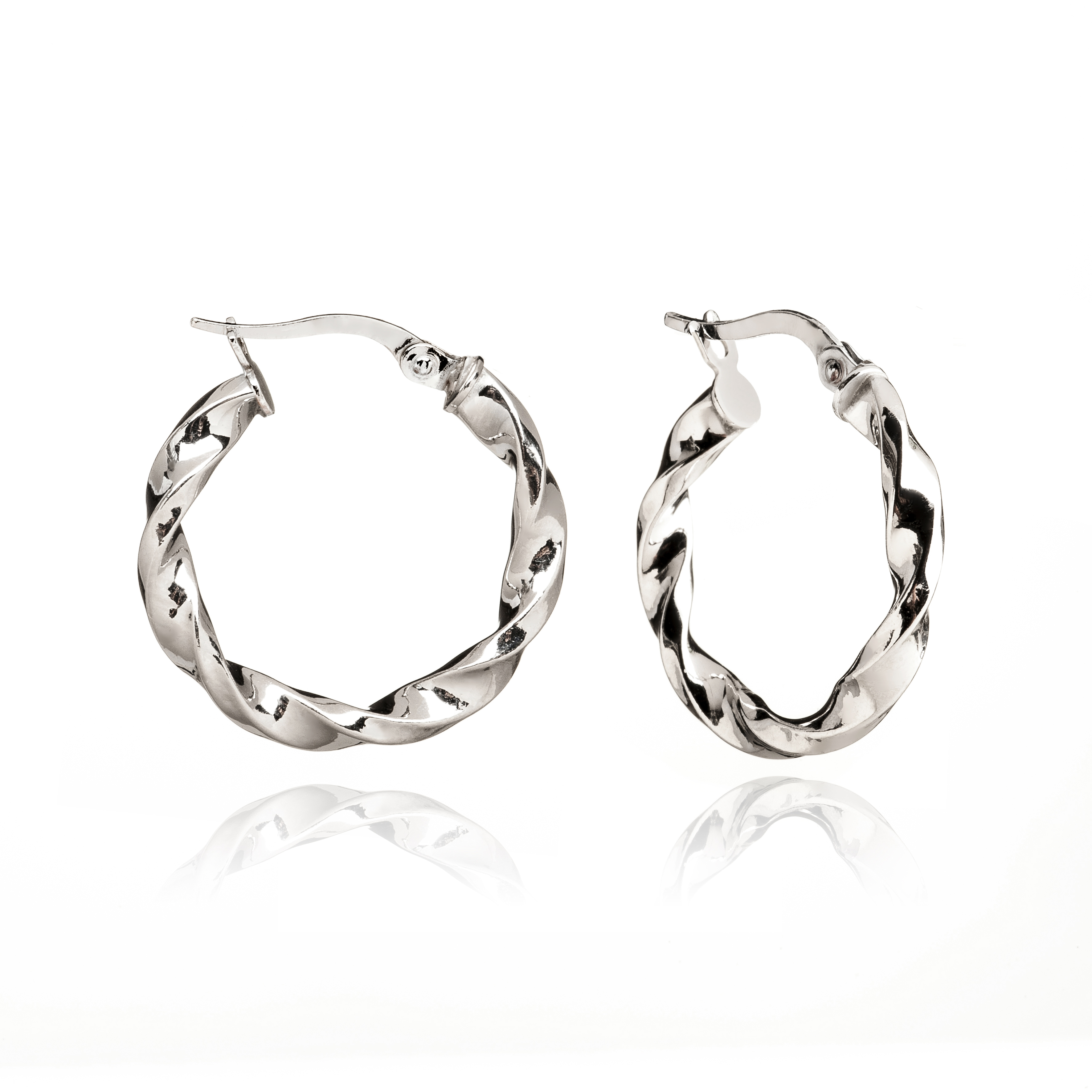 aros de plata trenzados jolfer joeyros 0458034