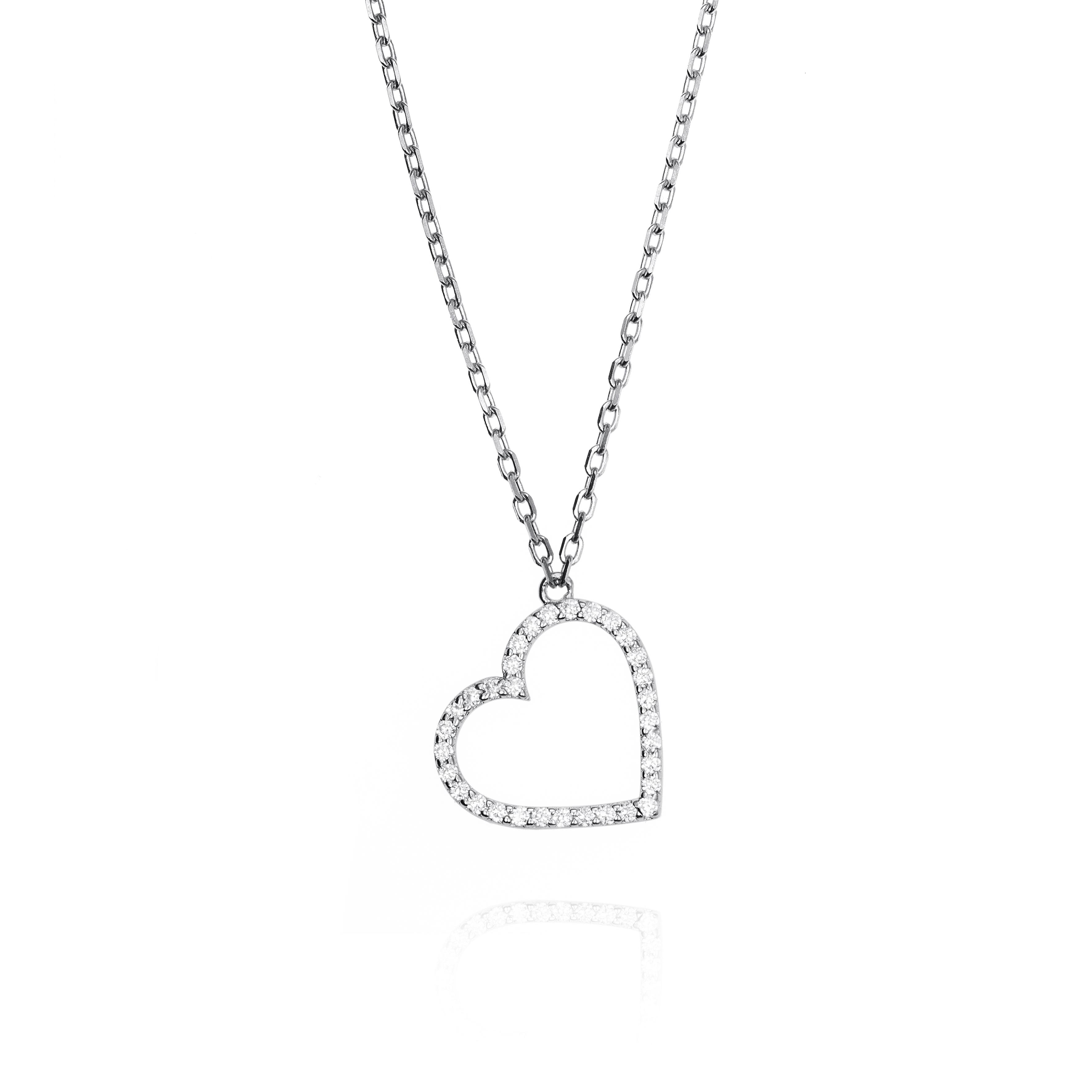 9882fdd2d2f2 0556614 Colgante corazón plata de ley y circonitas jolfer joyeros